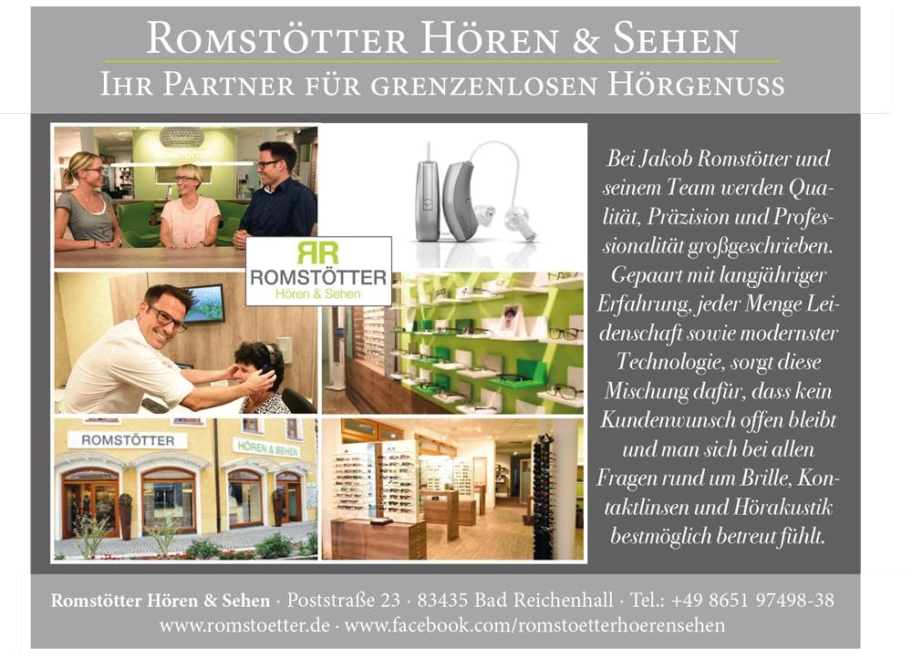 Werbeeinschaltung Firma Rumstötter Hören & Sehen aus Bad Reichenhall