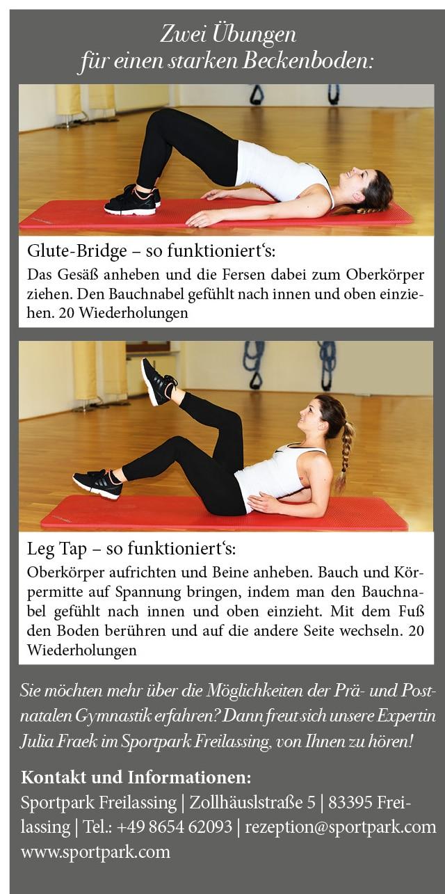 Übungen für prä- und postnatales Training