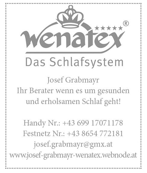 Anzeige Wenatex
