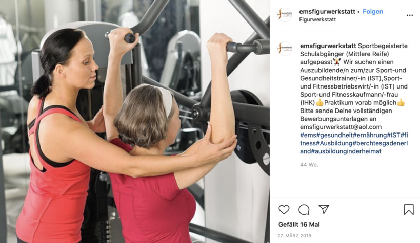 Azubis gesucht EMS Figurwerkstatt Bad Reichenhall